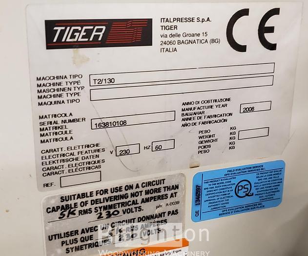 2008 Italpresse Tiger T2/130 Glue Spreader