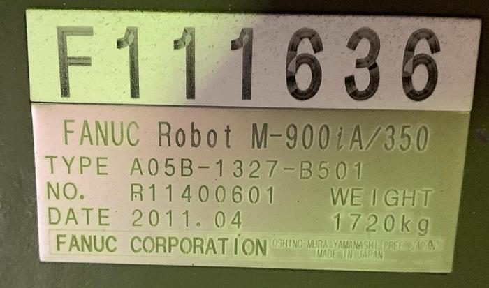 FANUC M900iA/350 6 AXIS CNC ROBOT WITH R30iA CONTROLLER 350KG X 2650mm REACH