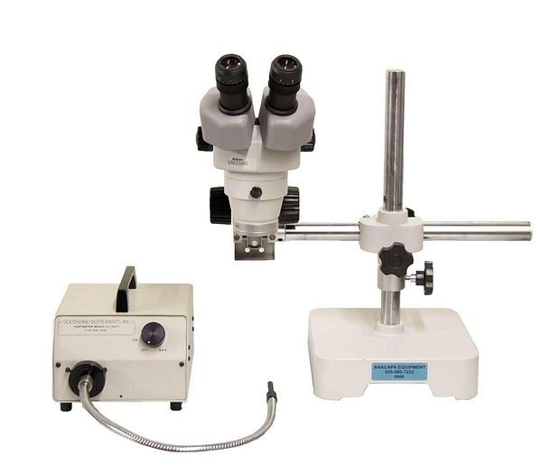 Used Nikon SMZ660 Microscope w/ Stand & FOI-1 Light Source + Fiber Optics (9066)R