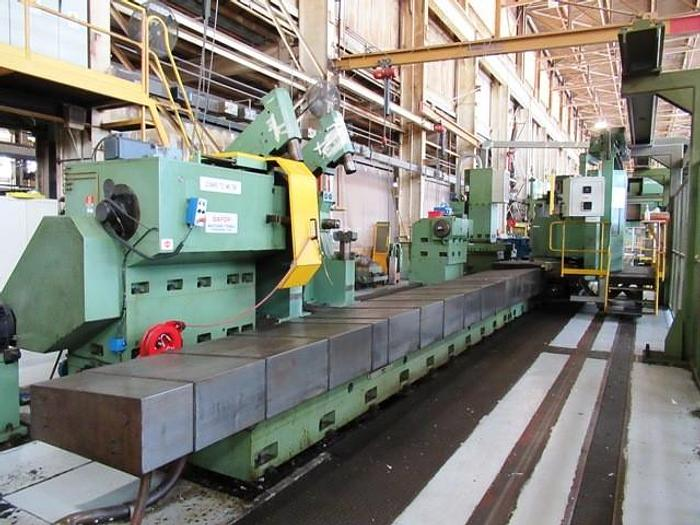 "Used Safop Leonard Model 70/L-MC 90"" x 32' Large Capacity CNC Lathe with Milling & Y-Axis"