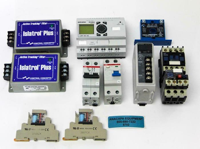 Used AcuAmp, Logotron, Keyence, Relays, Power Supplies & Circuits Lot of 10 (8702)W