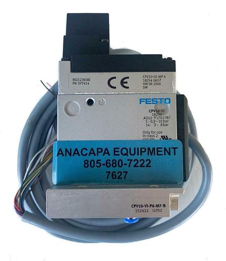 Used Festo CPV10-GE-MP6 U607 Valve Manifold, CPV10-VI, CPV10-VI-P6-M7-B (7627) W