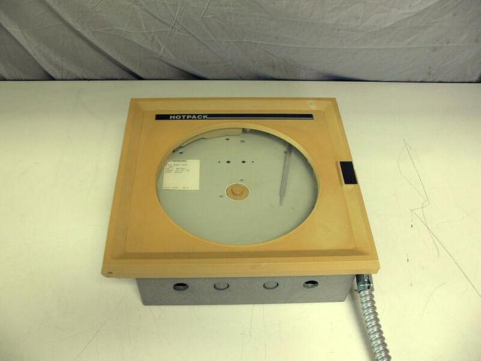 Used Honeywell Hotpack AR15BDN2062 7 Day Circular Temperature Chart Recorder w/Probe