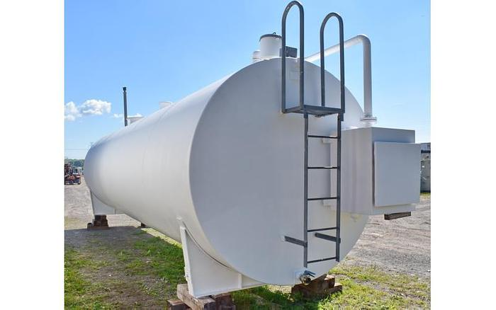 USED 12 000 GALLON TANK, CARBON STEEL, HORIZONTAL, DOUBLE WALL FUEL TANK WITH EPOXY LINING