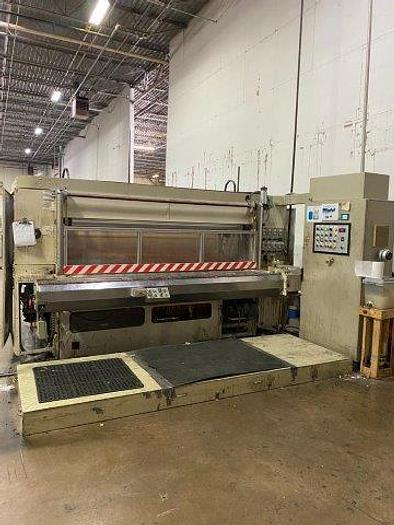 """Used 106"""" Perini 702G  Industrial Roll Rewinder Line with Embossing"""