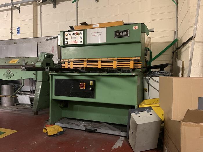 Used 1989 OMAG CEL 104 Hydraulic Sheet Metal Shear