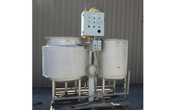 USED 150 GALLON JACKETED TANK, STAINLESS STEEL