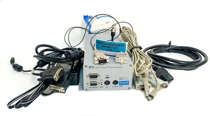 Used PI E-861.1A1 Nexact Controller, PI N-310.01 Precision Linear Positioner (6716)W