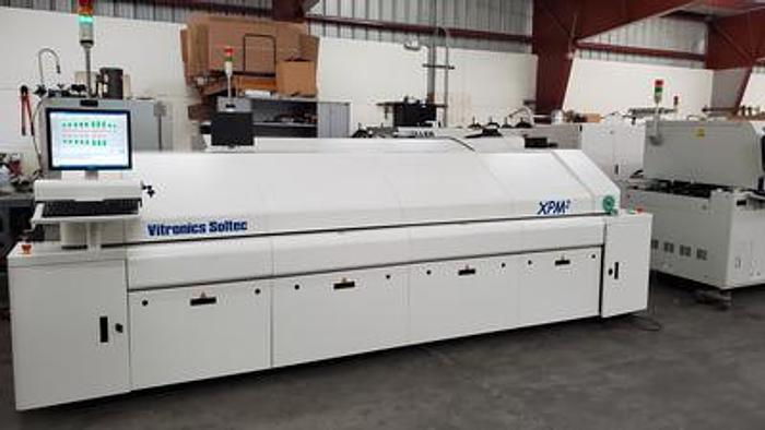 Used Vitronics Soltec XPM2-820 8 zone lead free reflow oven 480V
