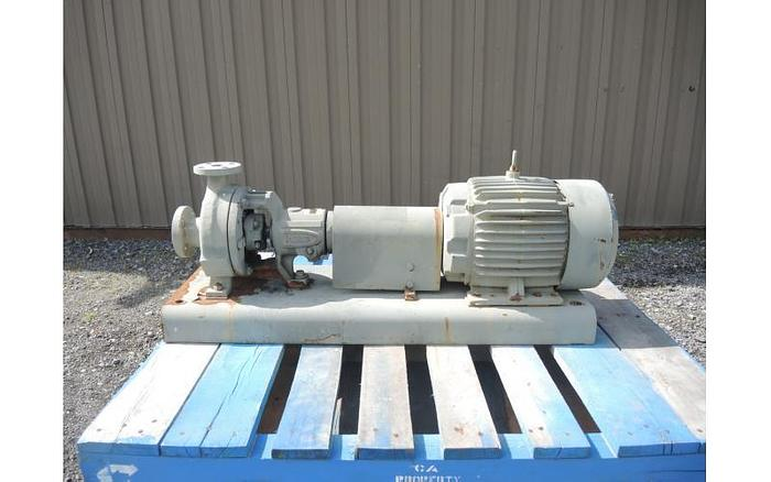 """USED CENTRIFUGAL PUMP, 1.5"""" X 1"""" INLET & OUTLET, CAST STAINLESS"""