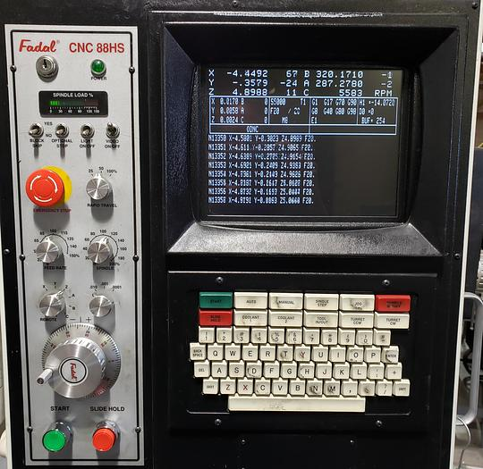 1998 Fadal VMC5020A  with 5th Axis Trunnion