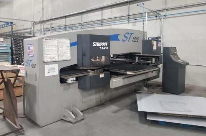 Used 2004 22 Ton Strippit ST-1212 CNC Turret Punch