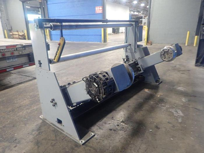 """Used 60"""" WHEBTECH SHAFTLESS FLOOR PICK UP UNWIND STAND 60"""" DIAMETER CAPACITY"""