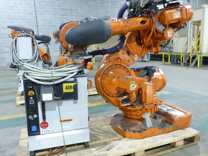 Used ABB IRB 7600 340/2.8 ROBOT WITH IRC5 CONTROLLER