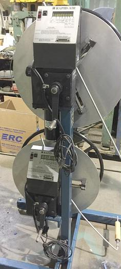 Used 75 Lb., RAPID-AIR, No. R24APB DOUBLE MOTORIZED UNCOILER