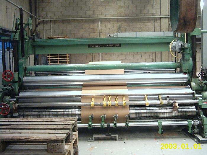 "Used 142"" (3.60M) GOEBEL TYPE U7 2-DRUM SLITTER REWINDER 60"" UNW/41"" REW (1500MM/1050MM)"