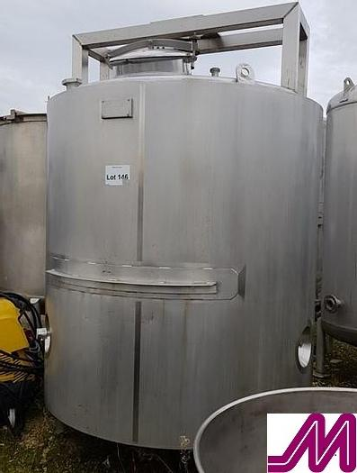 Used 1998 3,000 Litre Stainless Steel Jacketed Tank