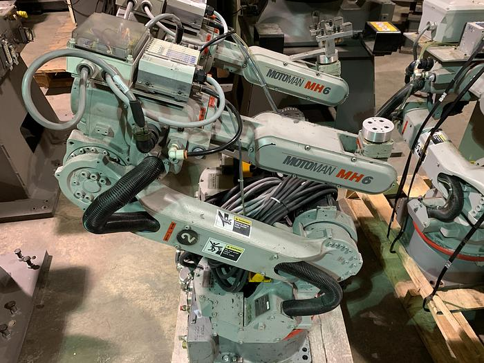 Used MOTOMAN MH6 6 AXIS HIGH SPEED CNC ROBOT WITH DX100 CONTROLLER, 6KG X 1422 MM H/REACH