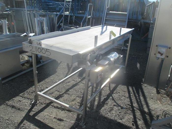 "Used Industrial Conveyor Belt Conveyor;29""Wx8'L"