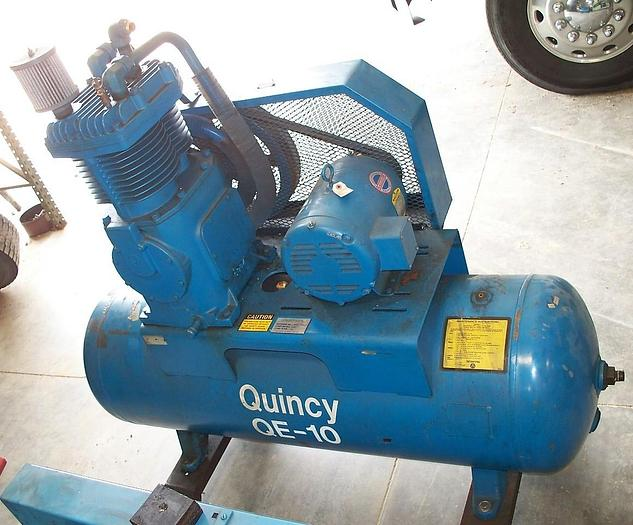 Used Quincy 10 HP 2 Stage Air Compressor QE-H10