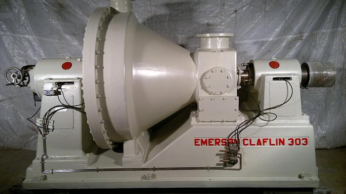 Used EMERSON CLAFLIN 303 CONICAL REFINER 500 KW (670 HP) 100-400 TPD