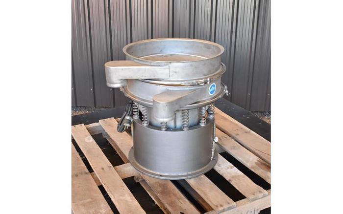 "USED SWECO SCREEN, 18"" DIAMETER, STAINLESS STEEL, SINGLE DECK"