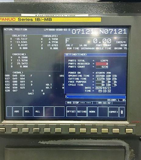 DOOSAN HP 5100 HORIZONTAL MACHINEING CENTER