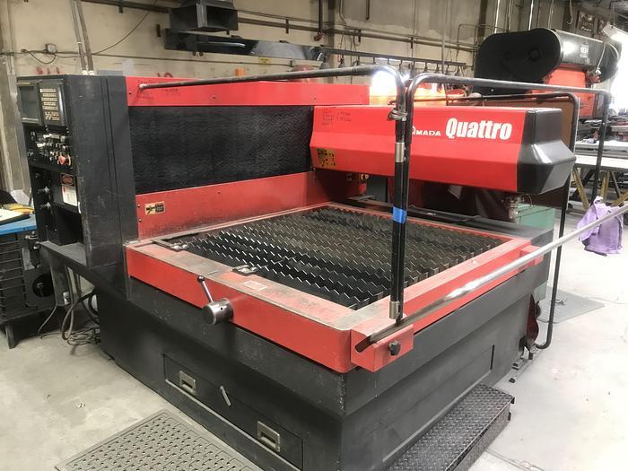 Used 2002 1000 Watt Amada Quattro CNC Laser
