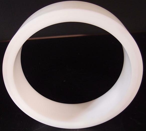 "Teflon Ring, Hollow 3/4"" Thick 10"" Diameter Vacuum, Deposition (3202)"