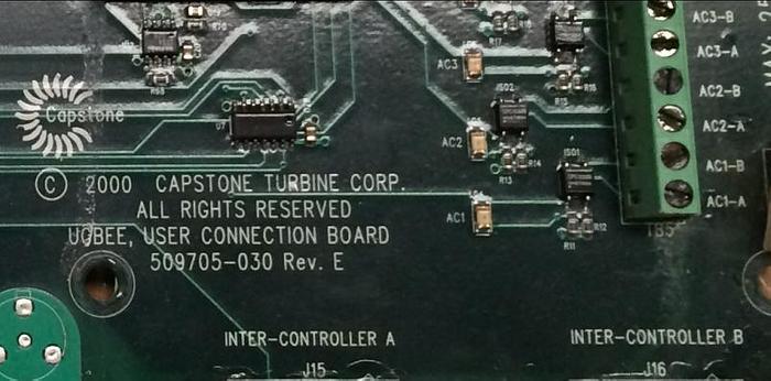Capstone Turbine User Connection Board for C30 Microturbine (P/N 509705-030)