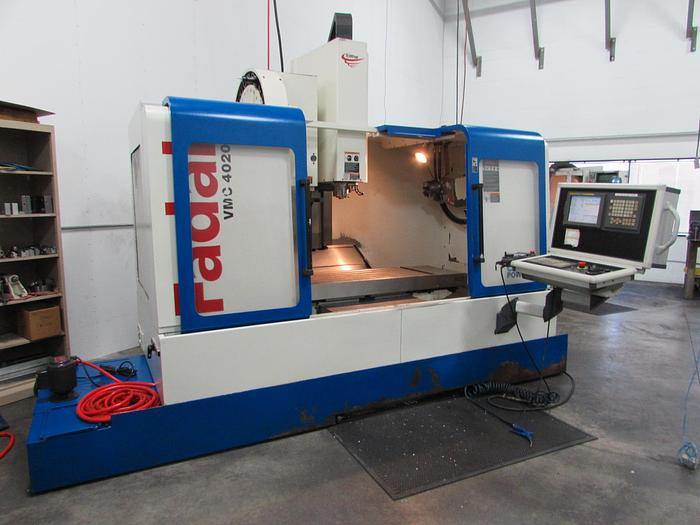 2005 FADAL VMC 4020HT with 4-Axis & Fanuc Control- Video