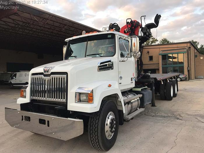 Used 2014 Western Star 4700 6x4 Flatbed Grapple Truck - MT2034