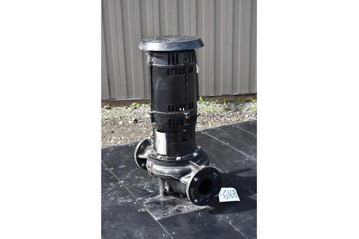 "USED CENTRIFUGAL PUMP, 3"" X 3"" INLET & OUTLET, CAST IRON, GRUNDFOS IN-LINE PUMP"