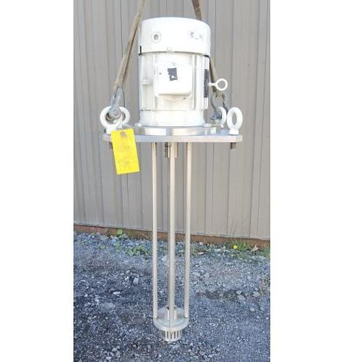 USED HOMOGENIZER, 5 HP, STAINLESS STEEL