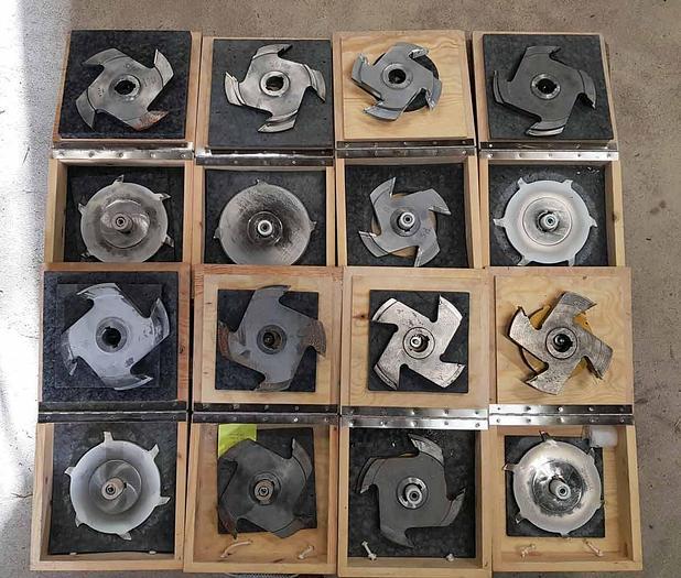 2006 Pegoma  Cutter set for Homag Doppeltendprofiler Pegoma