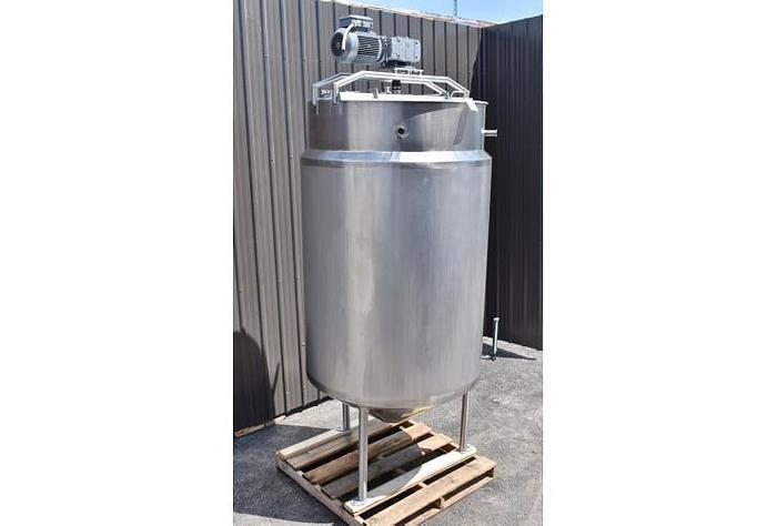 USED 528 GALLON JACKETED TANK, STAINLESS STEEL, SWEEPER MIXER