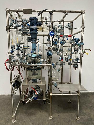 Used Buchiglasuster chemReactor GR 15 Liter Glass Bio-Reactor Skid