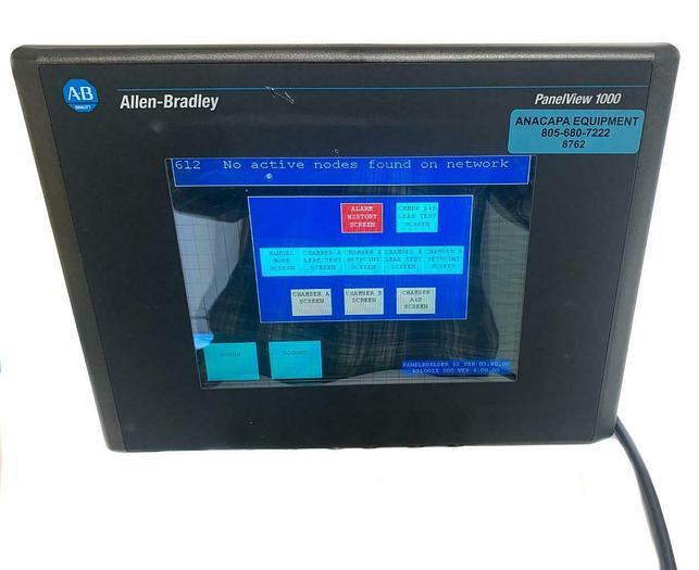 Used Allen-Bradley PanelView 1000 2711-T10C9, Rev C, Ser D, 100-240VAC (8762)W