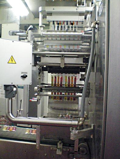 LIQUID STICKPACK SACHET MACHINE WITH FLOWPACK WRAPPER used for ice pops
