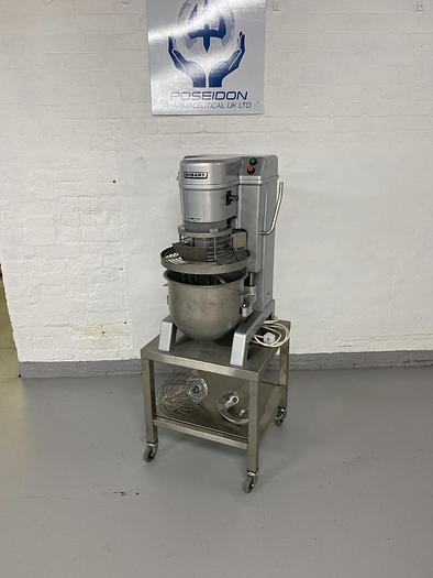 Used Hobart NCM 20 Mixer on portable stainless steel stand