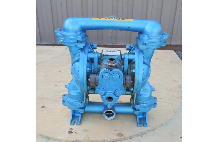 "Used USED DIAPHRAGM PUMP, 1.5"" X 1.25"" INLET & OUTLET, STAINLESS STEEL"
