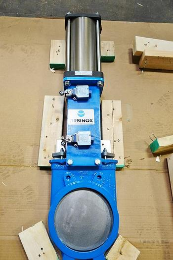 "New Orbinox 8"" Pnuematic Knife Gate Valve  Clyorbexet"