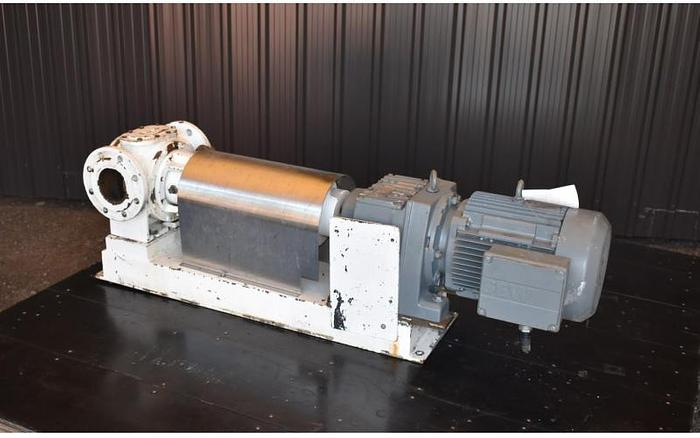 """USED AASTED MIKROVERK CP CHOCOLATE GEAR PUMP, 3"""" X 3"""" INLET & OUTLET, CAST IRON"""