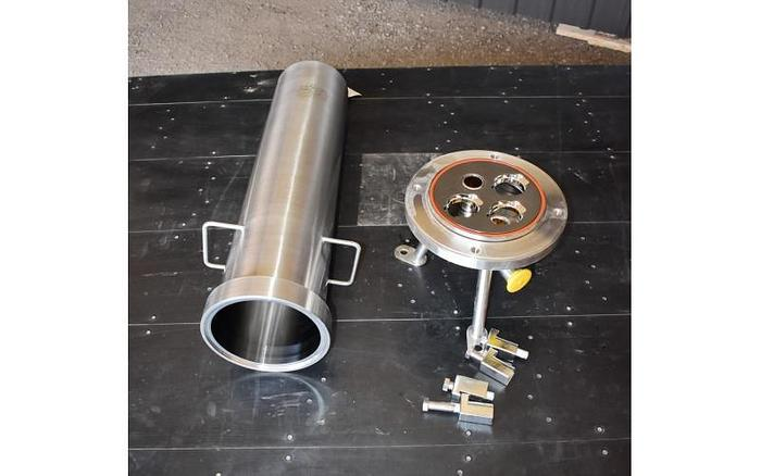 "USED FILTER, CARTRIDGE TYPE, 1.5"" INLET/OUTLET, 316L STAINLESS STEEL, SANITARY, UNUSED"