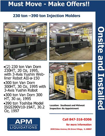 Used Lot of Van Dorn HTs and Toshibas Available