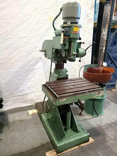 Used Johansson Radial Arm Drill Press DEEP REACH DRILLING