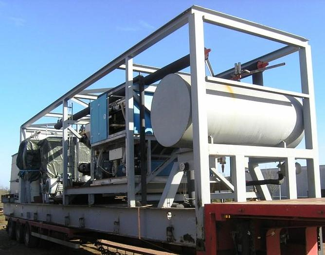 Used FINSAM – plate ice machine plant. Model VIP 18B UAV.