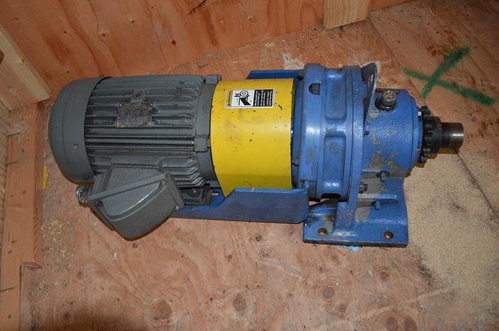Used Sumitomo SM Cyclo 5 HP gearmotor reducer 34RPM , 460volt, 230 volt