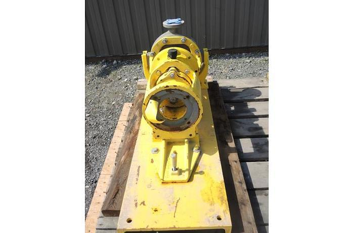 """USED CENTRIFUGAL PUMP, 2"""" X 1"""" INLET & OUTLET, STAINLESS STEEL"""