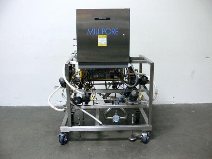 Used Millipore K400 Chromatography Skid w/ Watson-Marlow 604U/R Peristaltic Pump